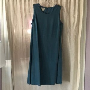 Smoky Teal Tommy Bahama Silk Dress
